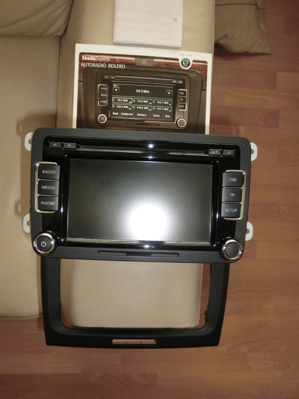 radio bolero de un skoda superb ii como vw rcd 510 ebay. Black Bedroom Furniture Sets. Home Design Ideas